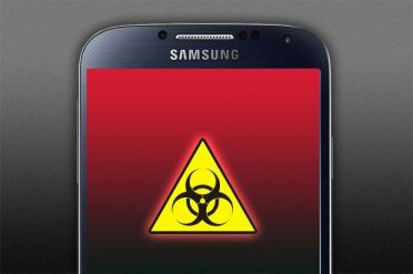 Peligro biológico pantalla móvil celular