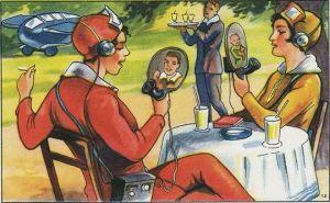 Ilustración futurista del pasado