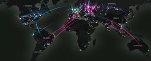 Mapa muestra en tiempo real los ciberataques alrededor del mundo