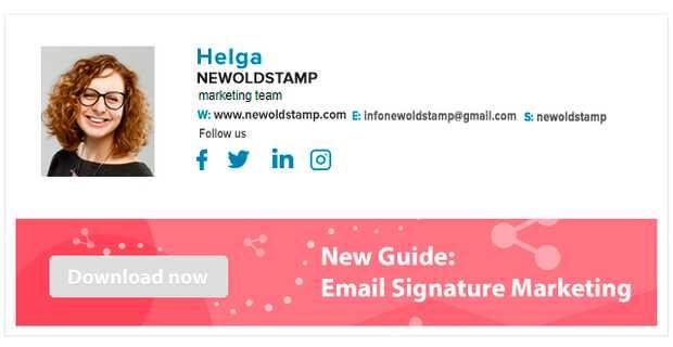 NEWOLDSTAMP es un generador automático de firmas personalizadas para correo electrónico