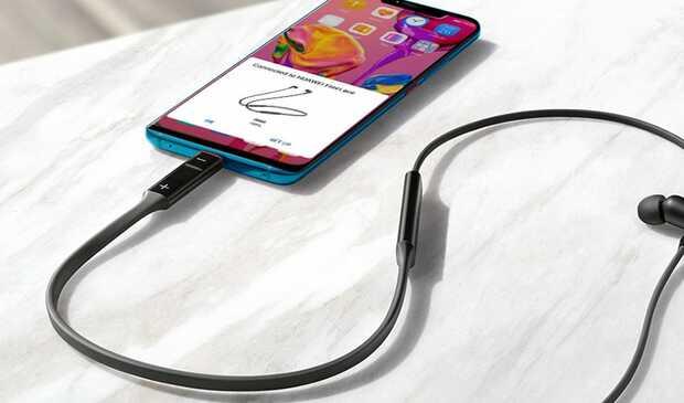 Nuevos auriculares inalámbricos con carga rápida de Huawei auriculares FreeLace