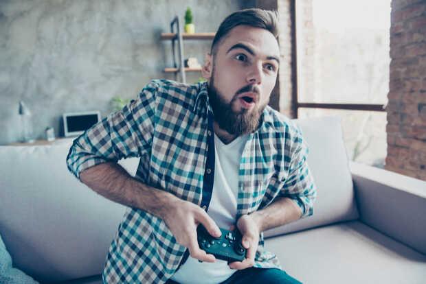 Hombre videojuego