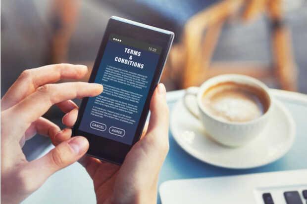 términos y condiciones app smartphone
