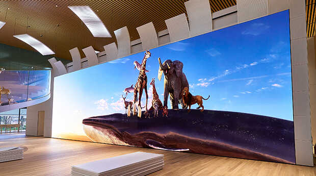 Crean pantalla 16K gigante de 20 metros de ancho con LED microscópicos