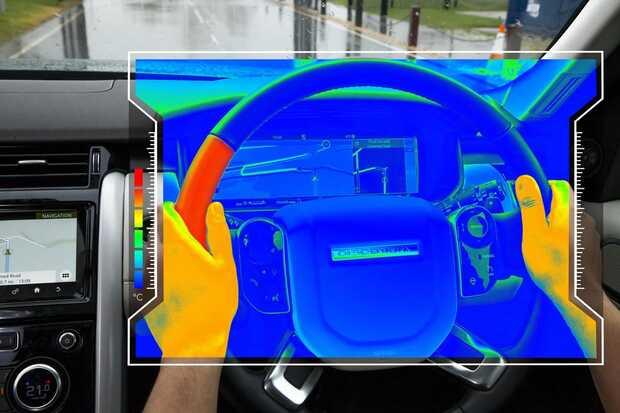 Volante desarrollado por Jaguar Land Rover Volante sensorial de Jaguar Land Rover indica la vía usando calor