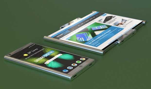 Samsung patenta móvil con pantalla enrollable
