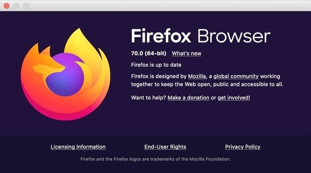 Firefox 70 llega con modo oscuro y mejoras en seguridad y rendimiento