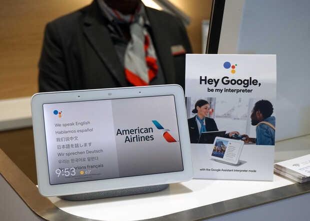 American Airlines prueba interprete de Google Assistant con sus pasajeros