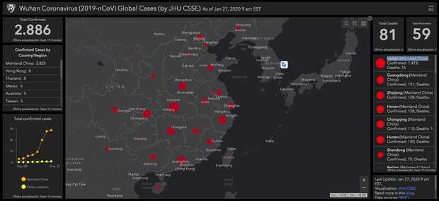 Coronavirus: cifras en tiempo real de la epidemia con mapa interactivo
