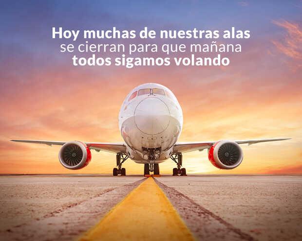 Avianca suspende vuelos internacionales y reduce 84% su operación en Colombia