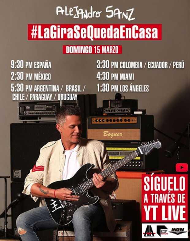 Alejandro Sanz y Juanes llevan su concierto a tu casa