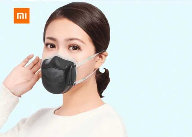 Mascarilla Xiaomi que purifica el aire electrónicamente y se carga por USB