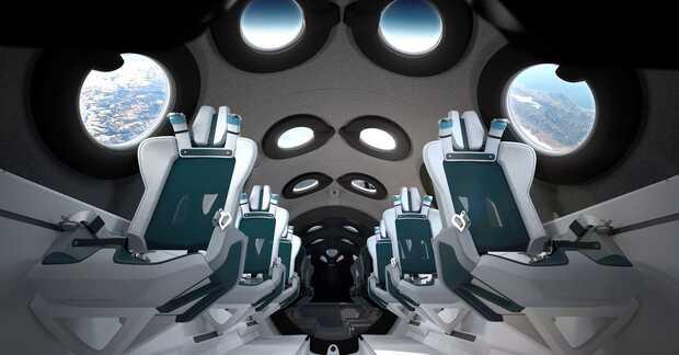Virgin Galactic: revelan como será la cabina de la nave que llevará turistas al espacio