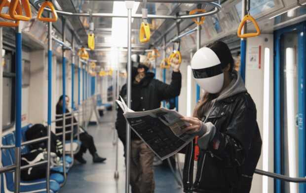 Inquietante máscara modular para protegerse del COVID-19