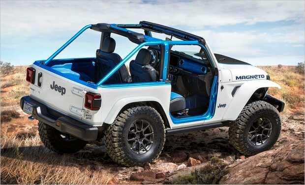 Jeep Wrangler Magneto la visión de un futuro todoterreno eléctrico