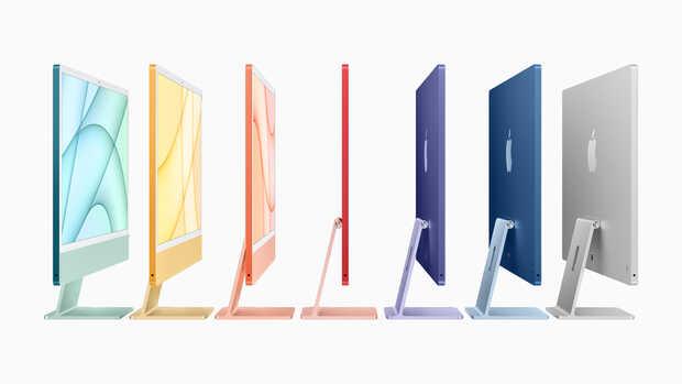 iMac 2021: futurista diseño con chip M1 y colores vibrantes que recuerdan su pasado