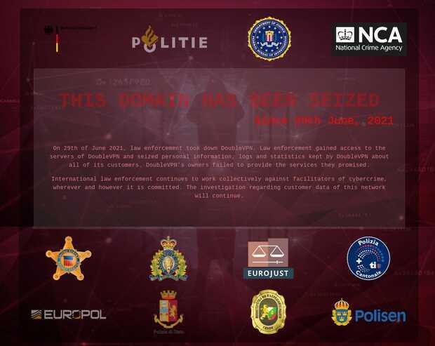 DoubleVPN: Policía cierra VPN utilizada por cibercriminales  y secuestra datos de sus clientes