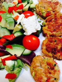 tuna-patties-and-salad