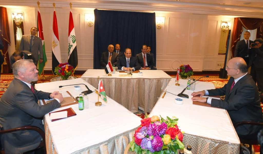 Holding an Iraqi-Jordanian-Egyptian tripartite summit in America 71184830_2806541546047195_6346243852663259136_o
