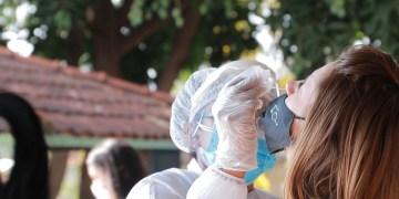 Testagem de covid é feita pela prefeitura de Goiânia com assintomáticos (foto divulgação)