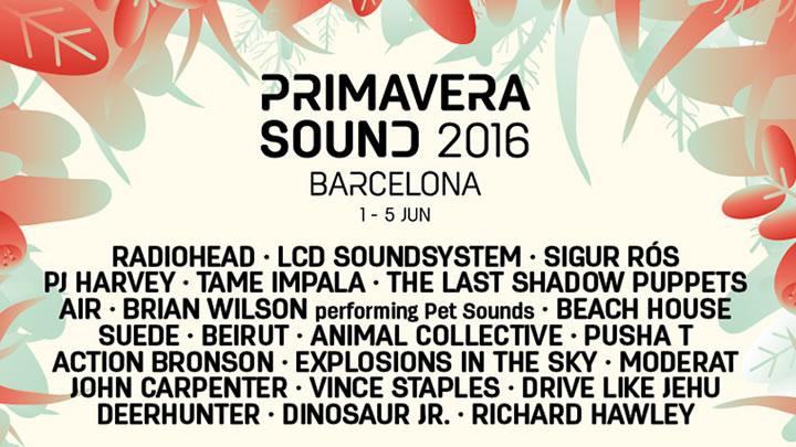 Resultado de imagem para primavera sound barcelona 2016