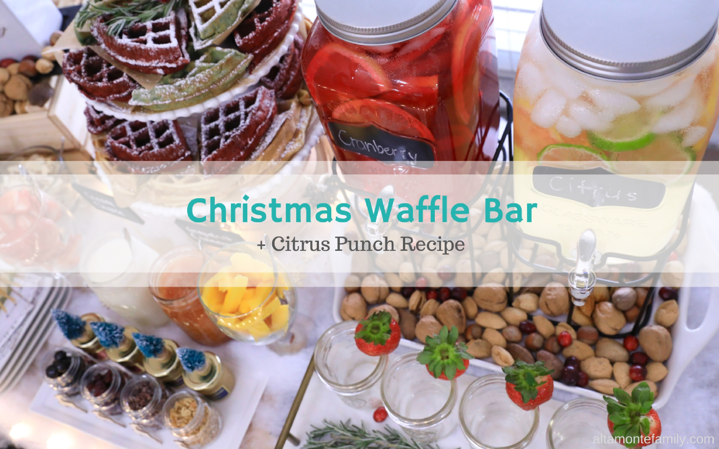 A Very Merry Holiday Waffle Bar Citrus Punch Recipe