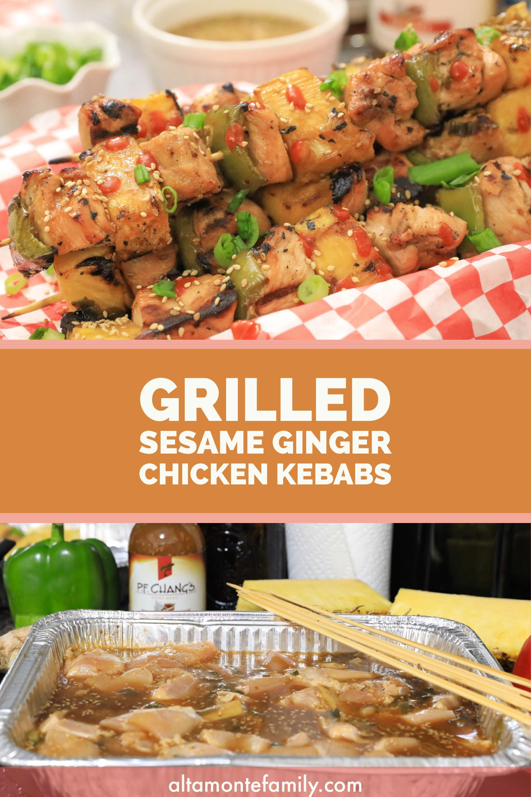Grilled Sesame Ginger Chicken Kebabs