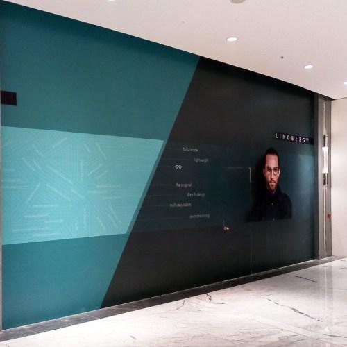 Hoarding for Lindberg in Dubai Mall Fashion Avenue