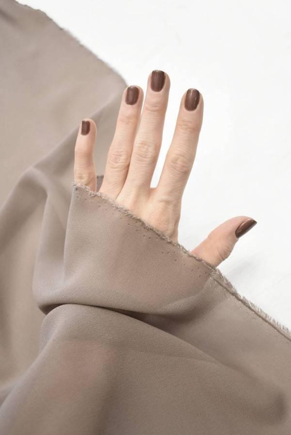 Креп шифон светло-коричневый оттенок какао