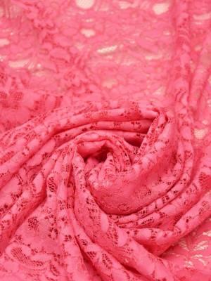 Кружево сутажное ярко-розовое с цветочным узором_03
