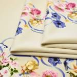 Джерси беж четыре цветочные каймы