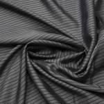 Подкладочная вискоза темно-серая в полоску | 1
