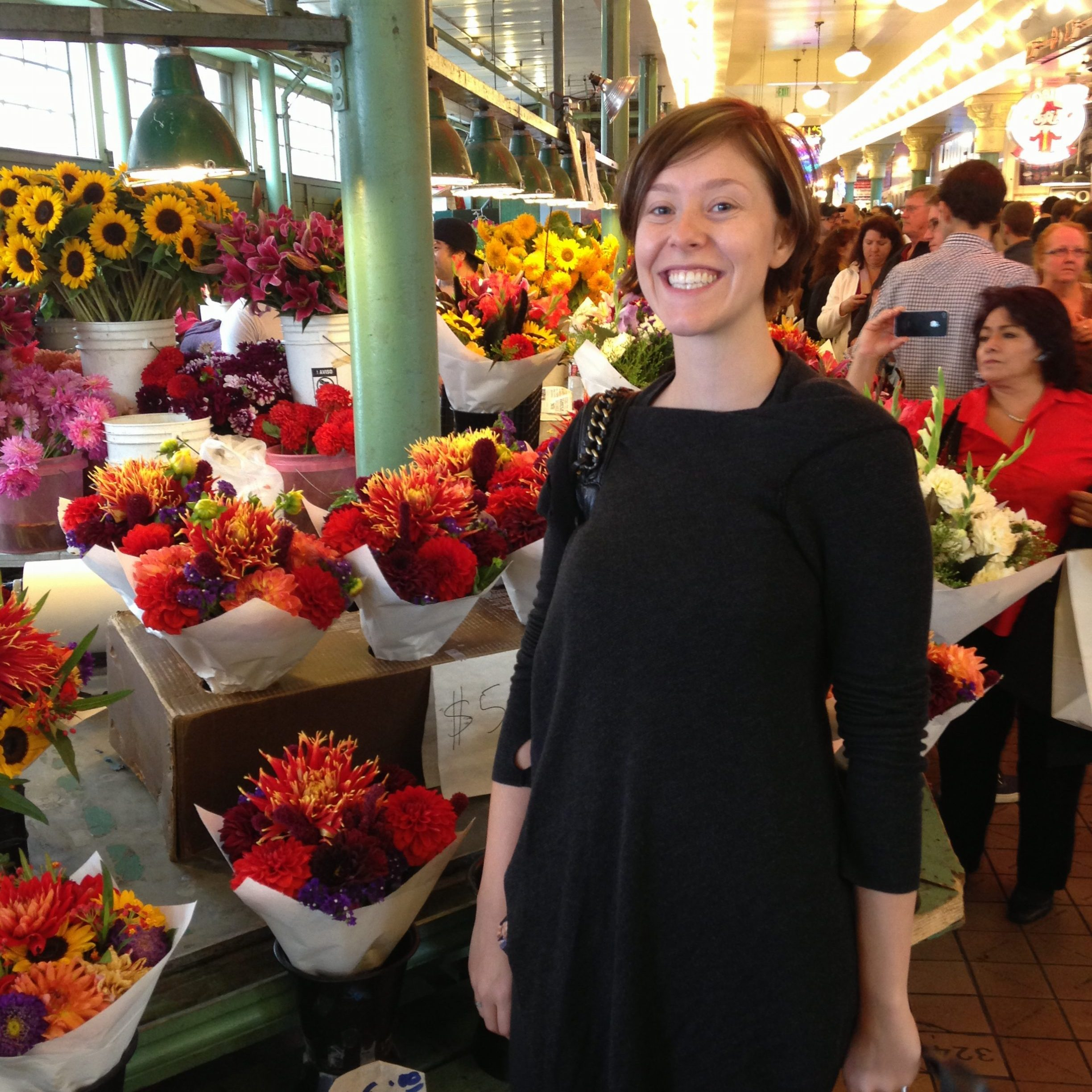 Dr Anna Marie at the Farmers Market in Seattle WA