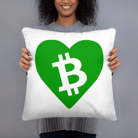 BCH Heart Throw Basic Pillow – Green BCH Heart