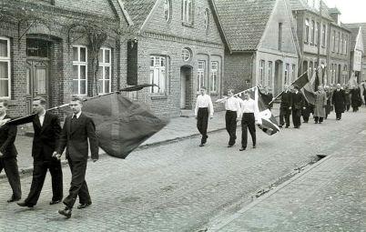 -218- Beerdigung Pastor Krone, gest. 28.02.1952, 1947-1952 in Dinklage