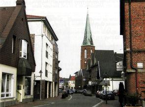 -193- vorne links Kreutzmann, die Einmündung der Gartenstraße und ehemals Schewe