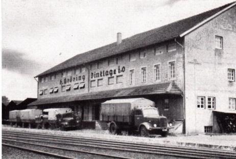 Lagergebäude der Firma Bröring am Bahnhof
