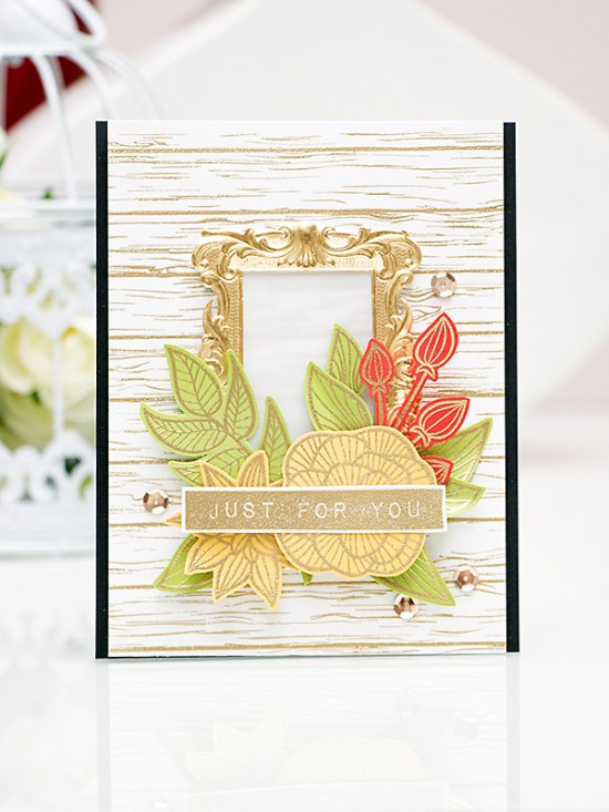 Yana Smakula. Video. Just For You Card using Striped Flowers