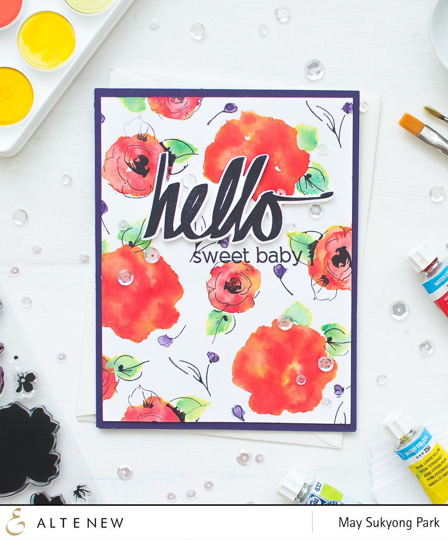 Handmade Watercolor Card using Altenew stamps