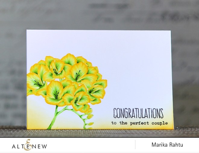 Stamps used: Fresh Freesia, Baby Zoo and Painted Poppy.