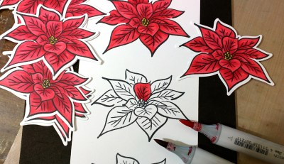coloring Poinsettia