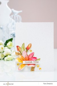 Altenew Watercolor outside the lines with Magnolias For Her. Video by Yana Smakula