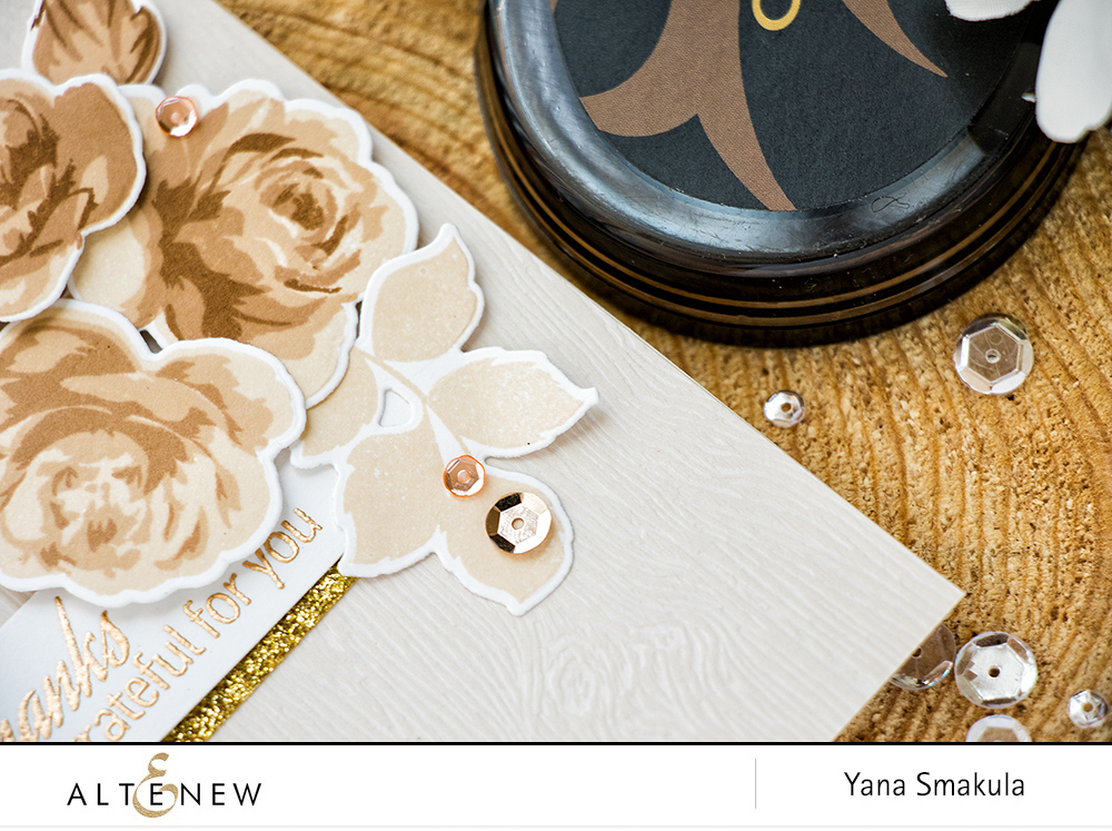Monochromatic Thank You Card with Coffee Break Colors by Yana Smakula