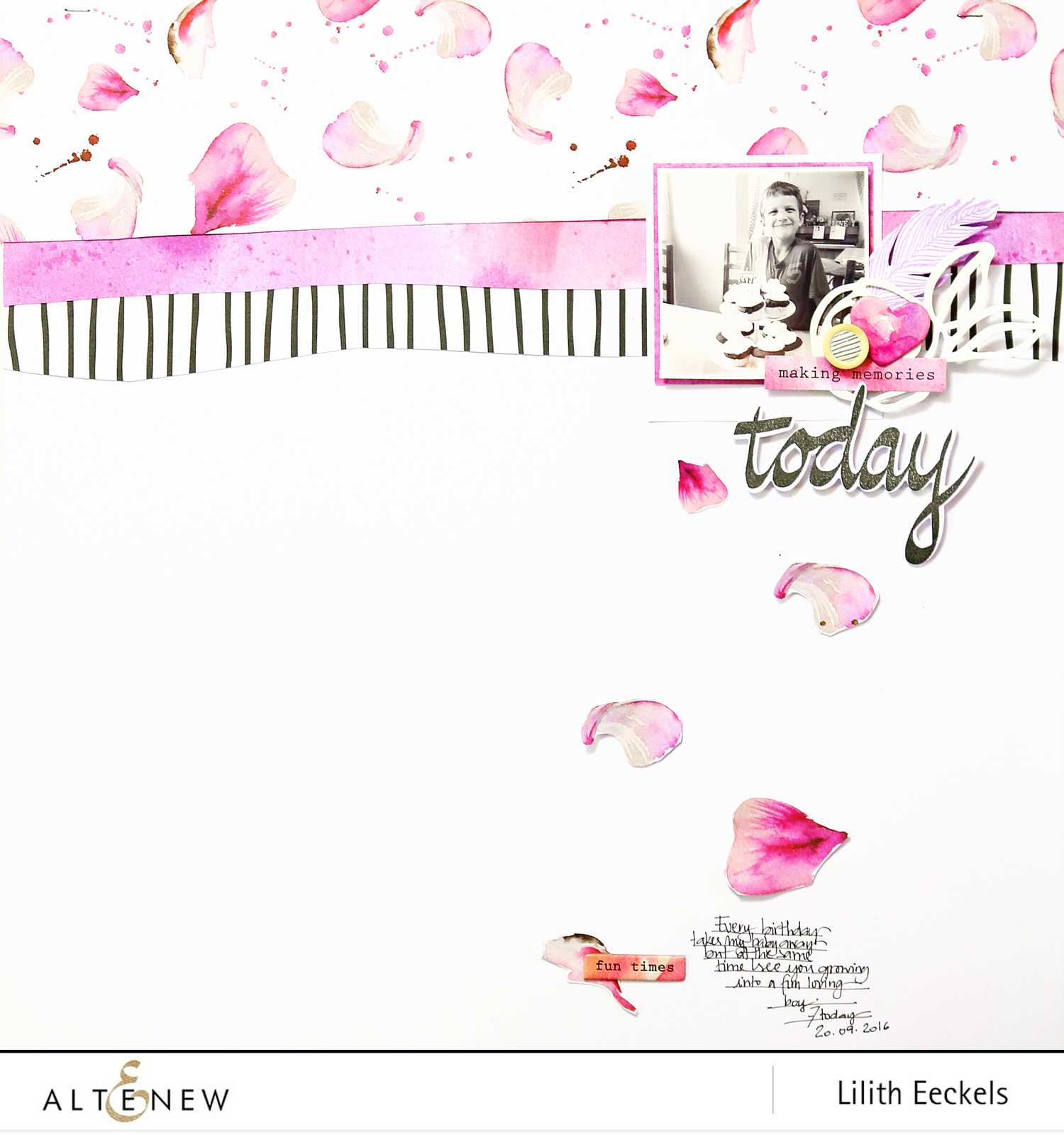 Video: Today (Super Script stamp and Reflection kit)