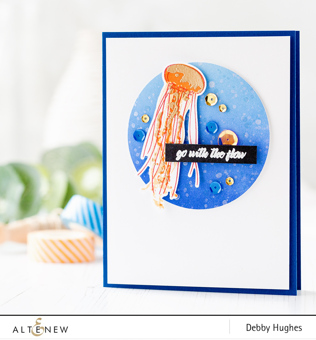 Altenew Painted Jellyfish card with Debby Hughes. Find out more by clicking on the following link: http://wp.me/p6Dps1-3H8