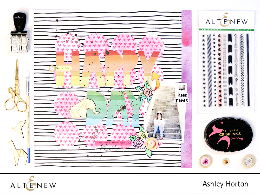 Creating patterned paper with stamps. By @ahorton, Stamps - @Altenew