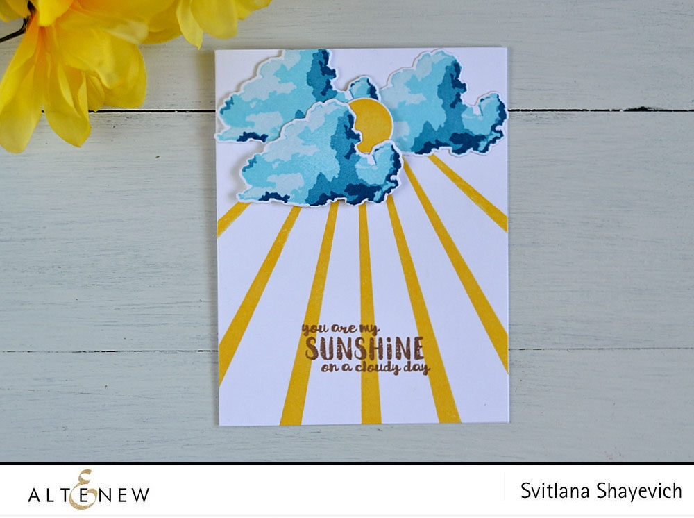 @altenew Rain or Shine. Card by @s_shayevich
