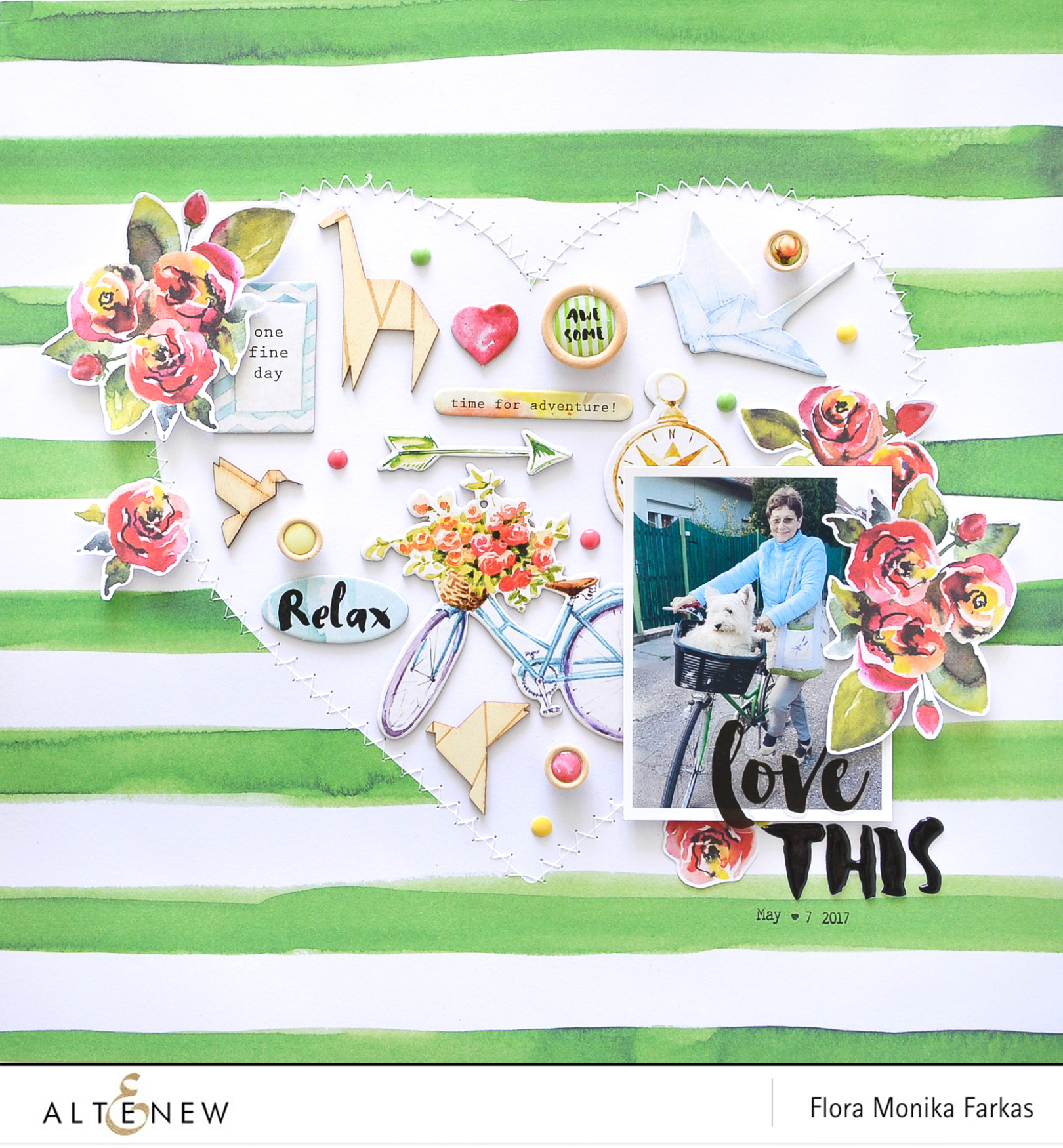 One direction scrapbook ideas -  Or Scrapbook Page You Have Still Time As The Challenge Ends On Sunday June 18th At 11 55 Pm Edt Here Is My Take One The Altenew Sketch Challenge 2