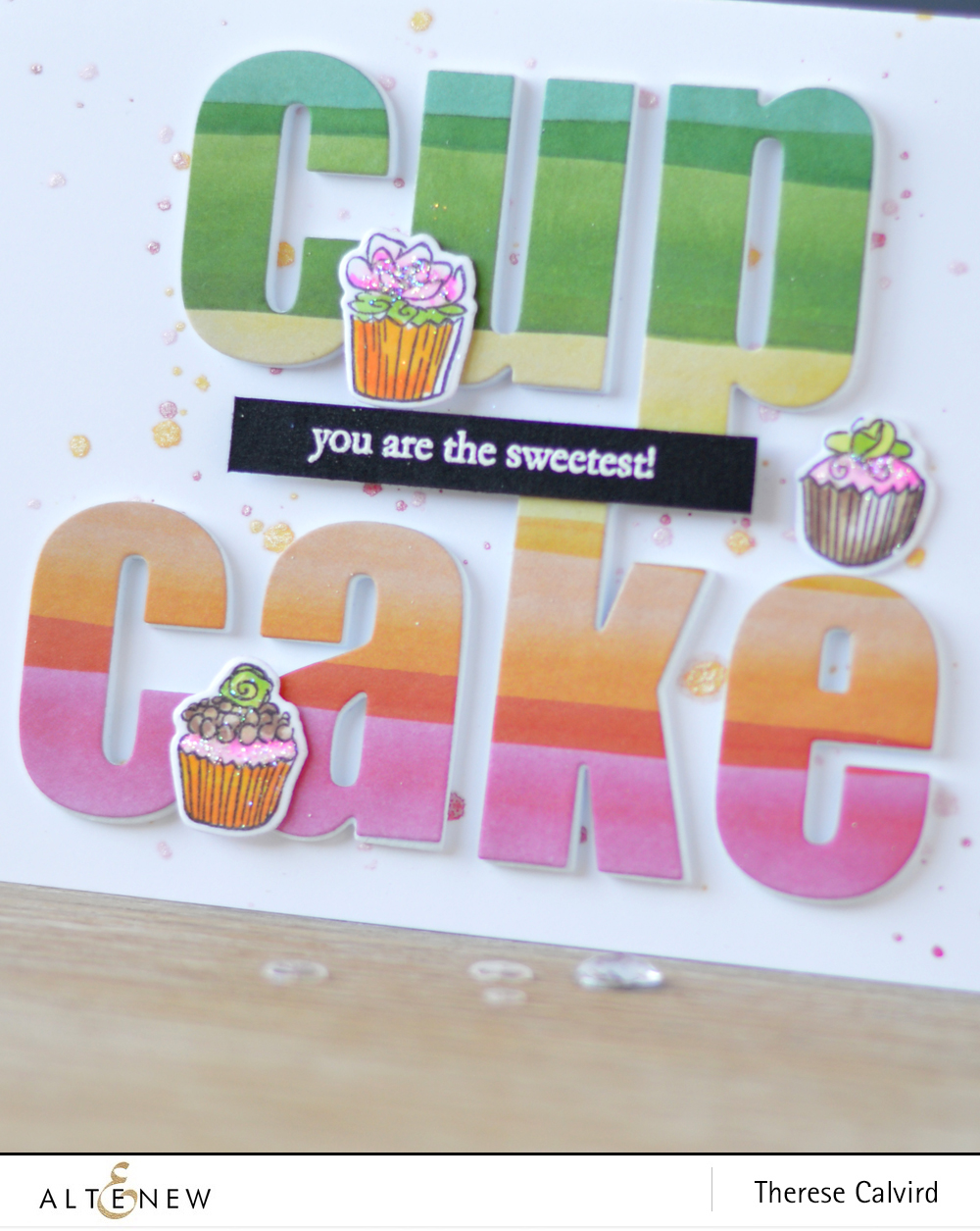 Altenew - Cake Love - Bold Alphabet Die - New Day Card Kit (card) 1 copy