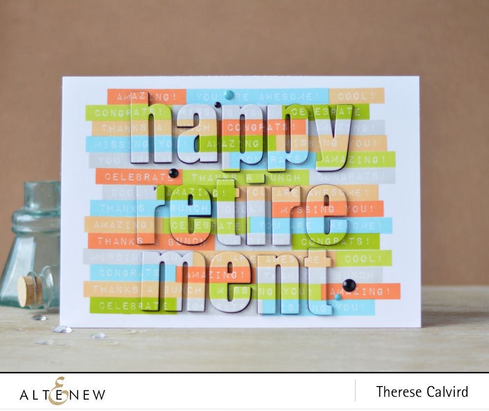 Altenew Stamping a Repeated Sentiment Background and Inlaid die cutting (card video)